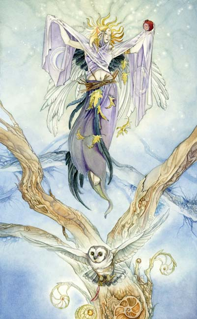 The High Priestess card from the Shadowscapes Tarot.