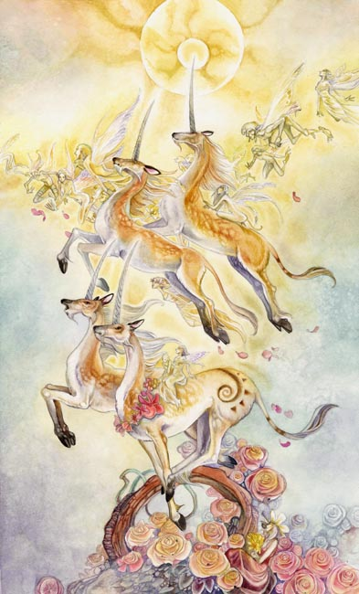 Stephanie Pui-Mun Law - Shadowscapes Tarot - Fantasy Art Спящий Ангелочек Рисунок